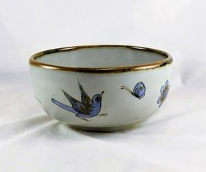etsy, folk art, and serving bowl image