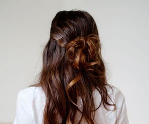 bun, hairpin, and hairstyles image