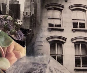 art, building, and Collage image