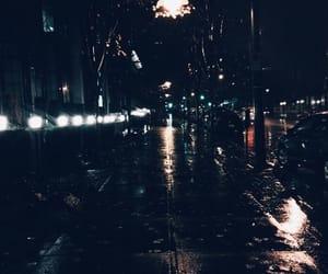 night, rain, and city image