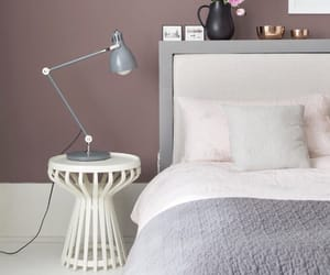 bed, pink, and pink theme image