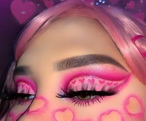pink, makeup, and cute image