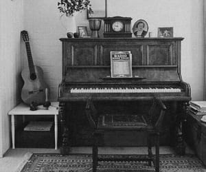 piano, vintage, and guitar image