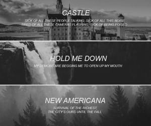 castle, halsey, and demons image