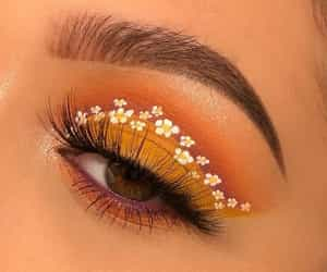 makeup, flowers, and beauty image