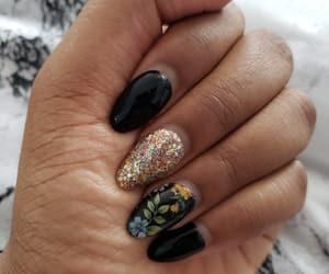 beauty, black, and glitter image