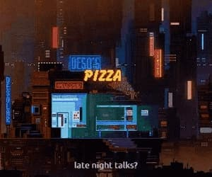 90s, pizza, and aesthetic image