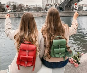 bags, bff, and blonde image