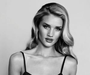 model, black and white, and rosie huntington-whiteley image