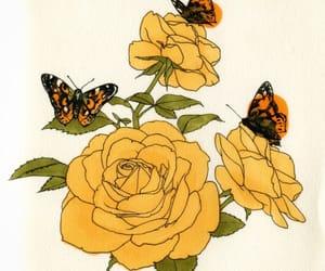 art, butterflies, and orange image