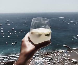 drink, beach, and ocean image