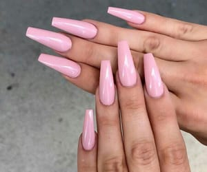 nails, pink, and inspiration image