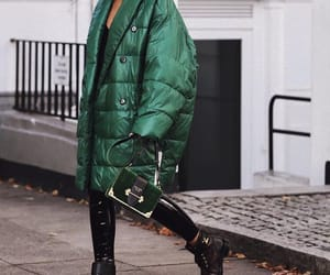 cool, green, and fashion image