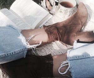 blanket, boots, and nature image
