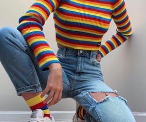 fashion, rainbow, and style image