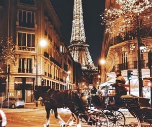 paris, lights, and travel image