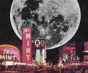 moon, city, and wallpaper image