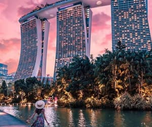 building and singapore image