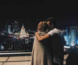 love, kiss, and city image