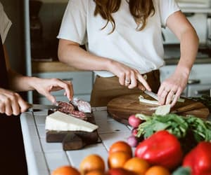 cheese, cooking, and food image