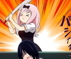 anime, gif, and kaguya sama image