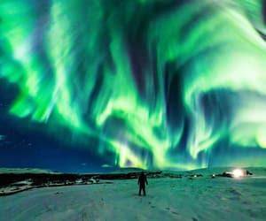 aurora, iceland, and travel image
