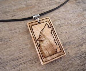 etsy, necklace pendant, and wood jewelry image