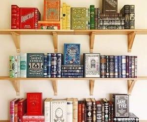 aesthetic, books, and bookshelves image