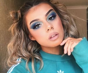 makeup, blue, and make image