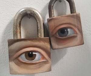 eyes, art, and lock image