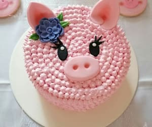 cake, pig, and pigs image
