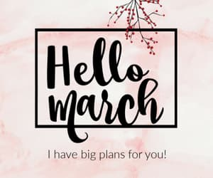flowers, hello march, and welcome march image