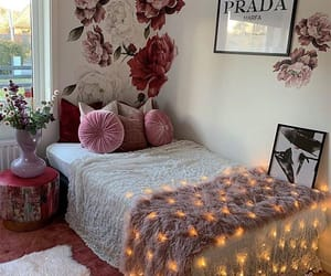 bed room, house, and pink image