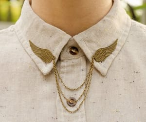 collar, fashion, and wings image