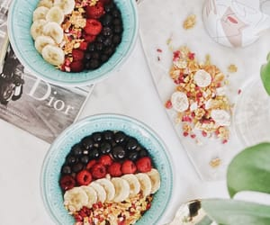 blueberry, breakfast, and dior image