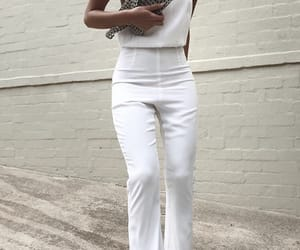 fashion, outfit, and all white image