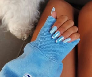 blue, nails, and acrylic image