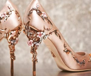 chaussures, pink, and golden image