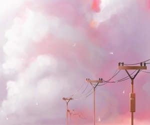 follow, pink, and pinksky image