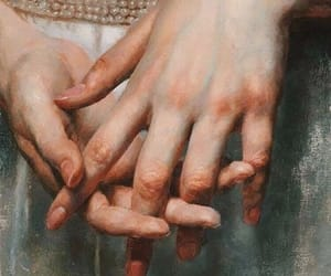 art, girl, and hands image