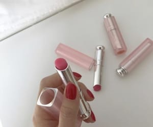 aesthetic, lipstick, and pink image