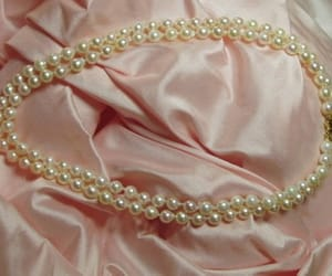 pearls, pink, and vintage image