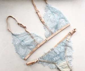 blue, underwear, and fashion image