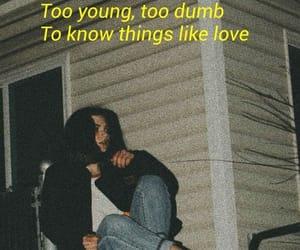 sad and young image
