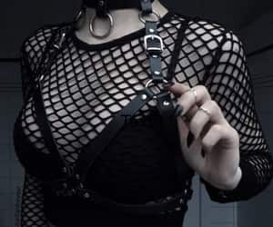 black, goth, and aesthetic image