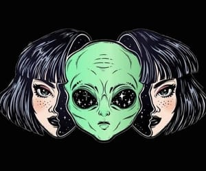 wallpaper, alien, and tumblr image