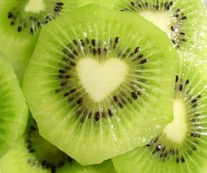 fruit, kiwi, and heart image