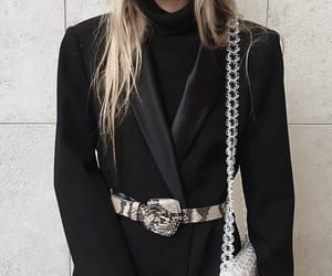 aesthetic, bag, and black image