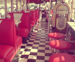 vintage, red, and diner image