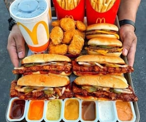 food, drink, and McDonalds image